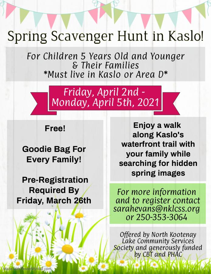 Spring Scavenger Hunt Poster