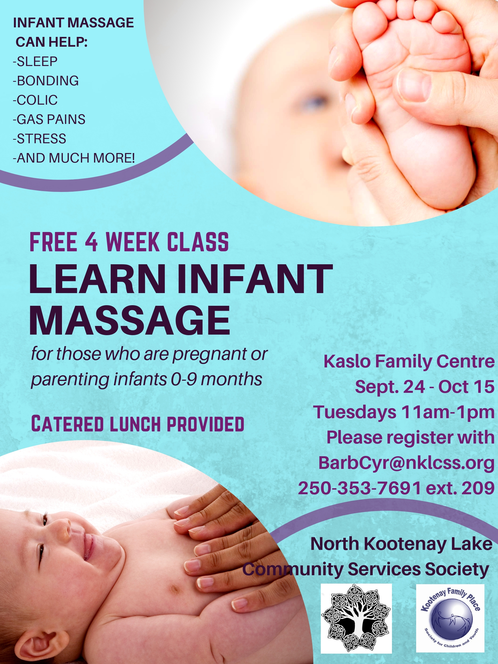 Infant massage poster