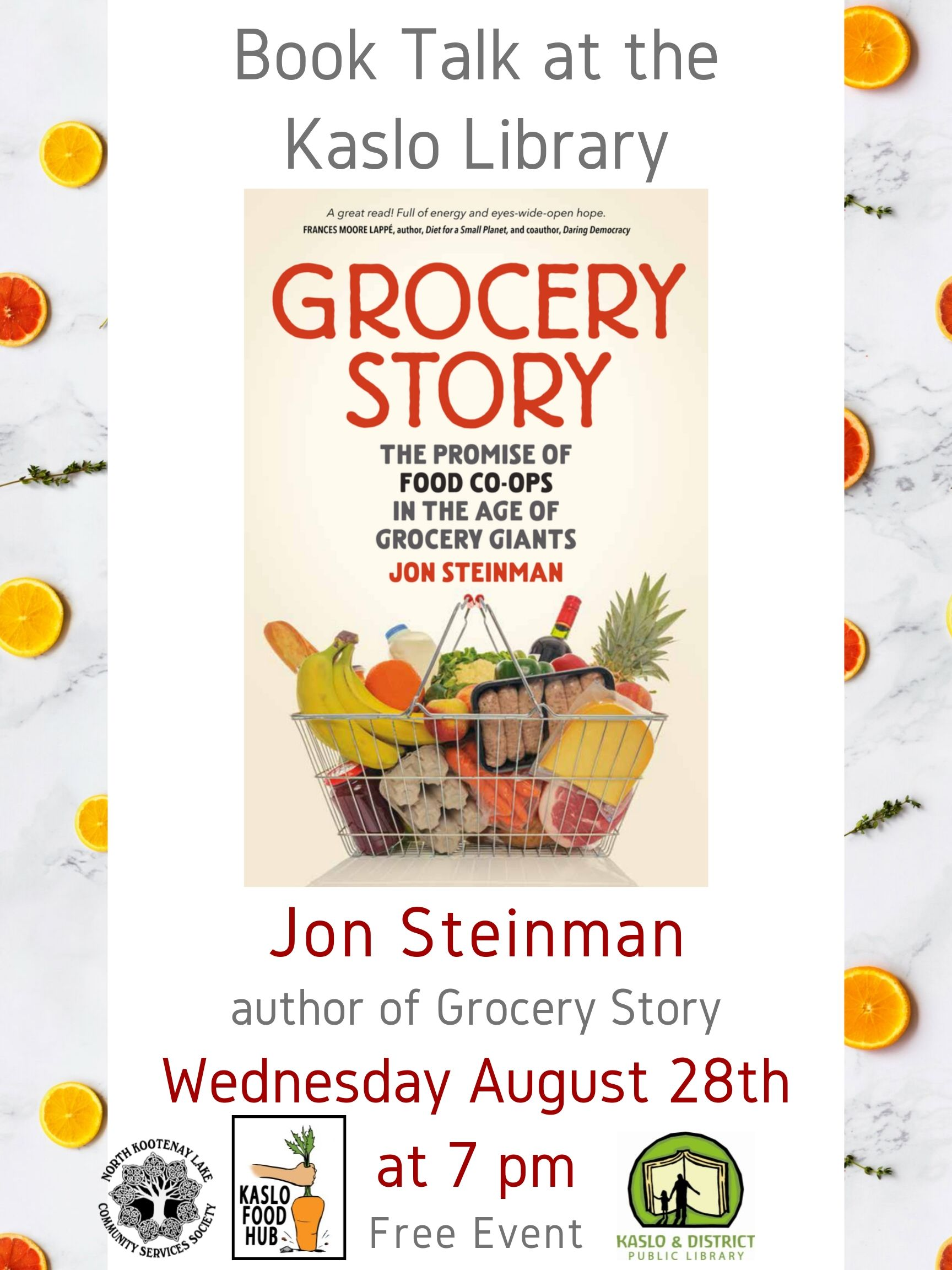 poster for Jon Steinman Book Talk