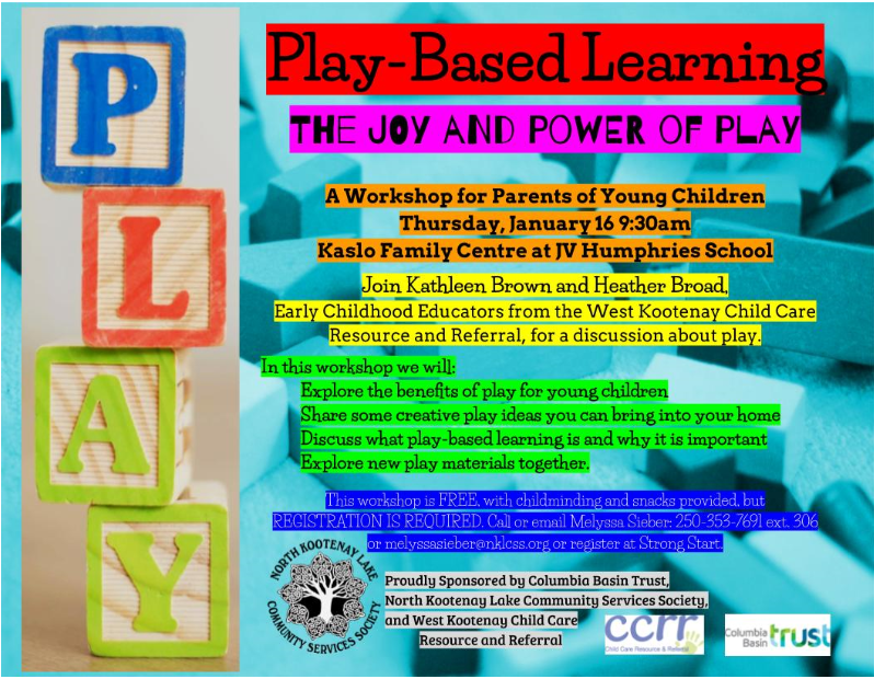 Play-Based Learning Poster